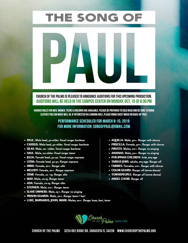 Song of Paul flyer 8.5x11