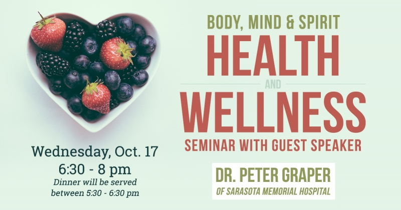Body, Mind and Spirit - Health and Wellness Seminar with Peter Graper