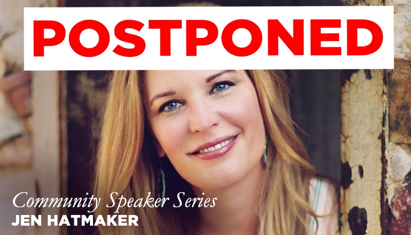Jen Hatmaker Community Speaker Series -postponed